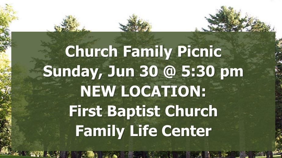 Church Family Picnic — FBC Sioux Falls
