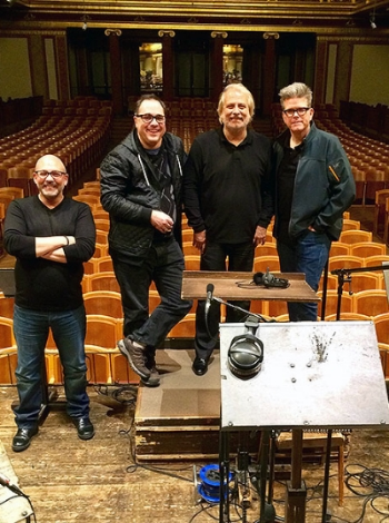 Lead-Orchestrator Matt Dunkley, Composer Joe Kraemer, Conductor Philippe Auguin   and Director   Christopher McQuarrie   during the recording at the Wiener Musikverein