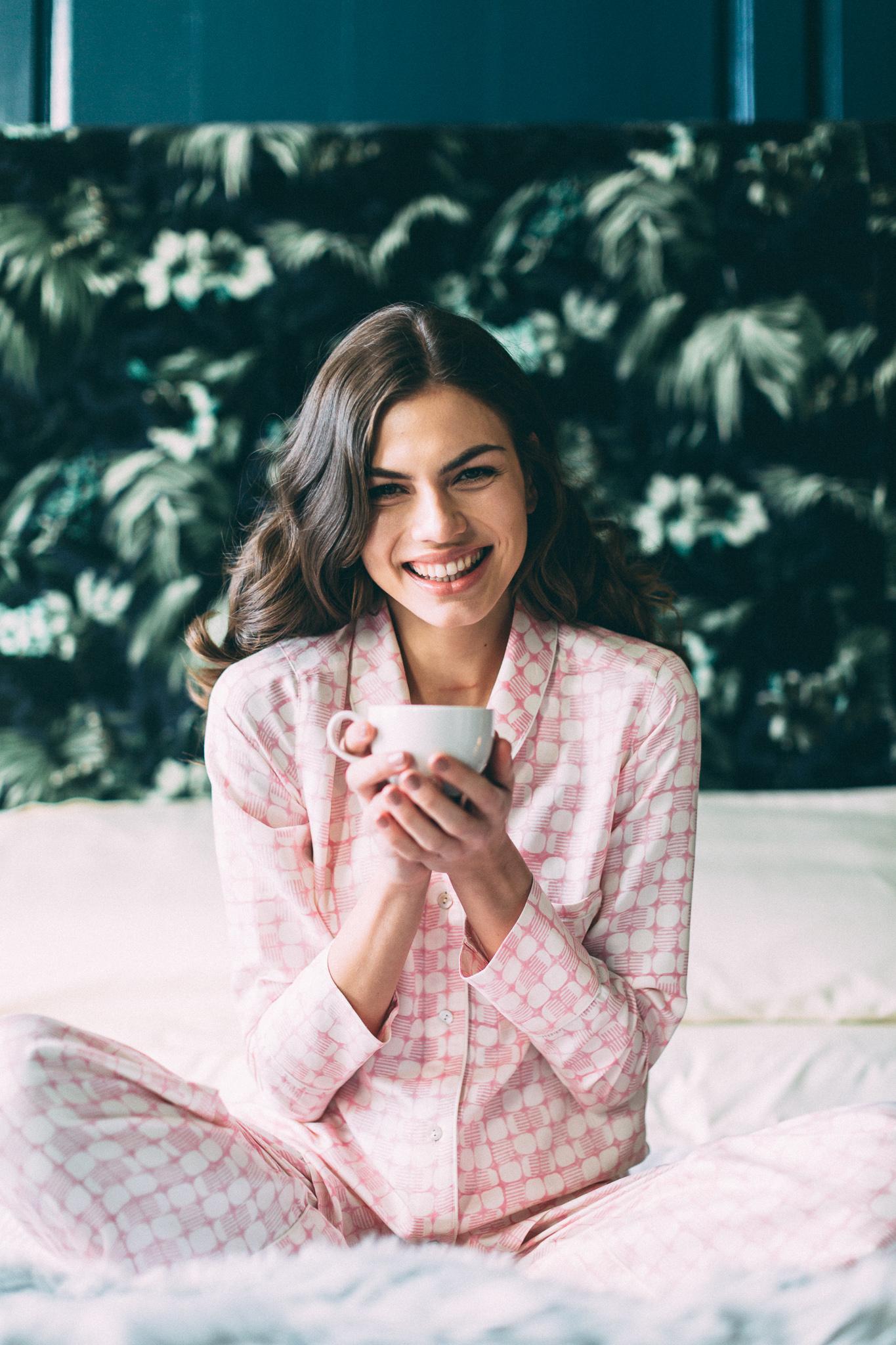 Mulberry silk pajamas