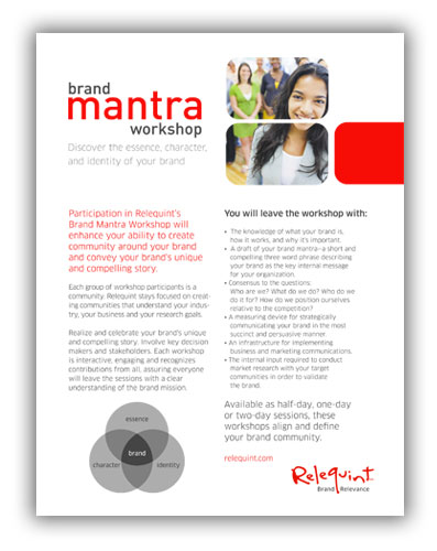 Brand Mantra Workshop