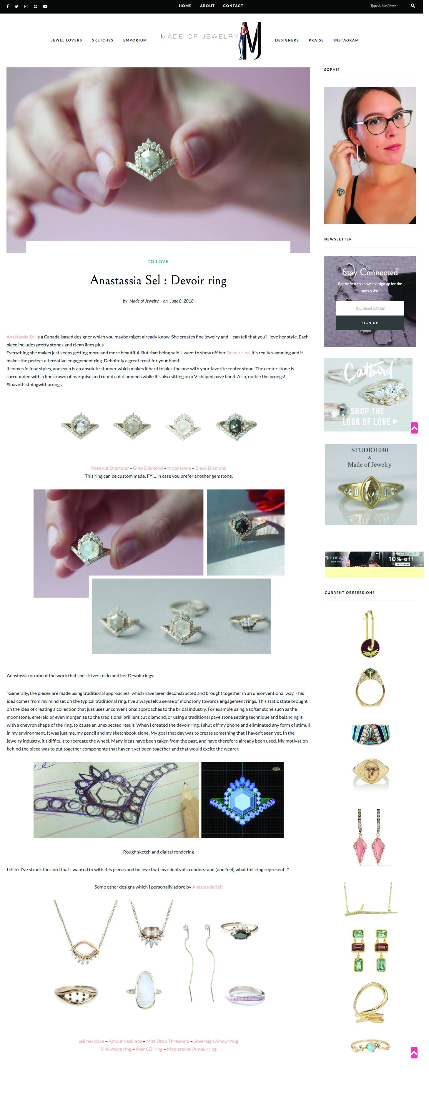 Made of Jewelry Blog - Anastassia Sel Jewelry