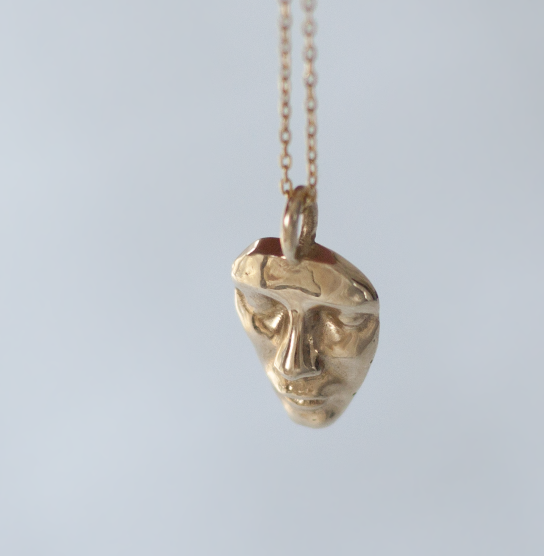 Gold Face Charm - Unique Charm - Anastassia Sel Jewelry