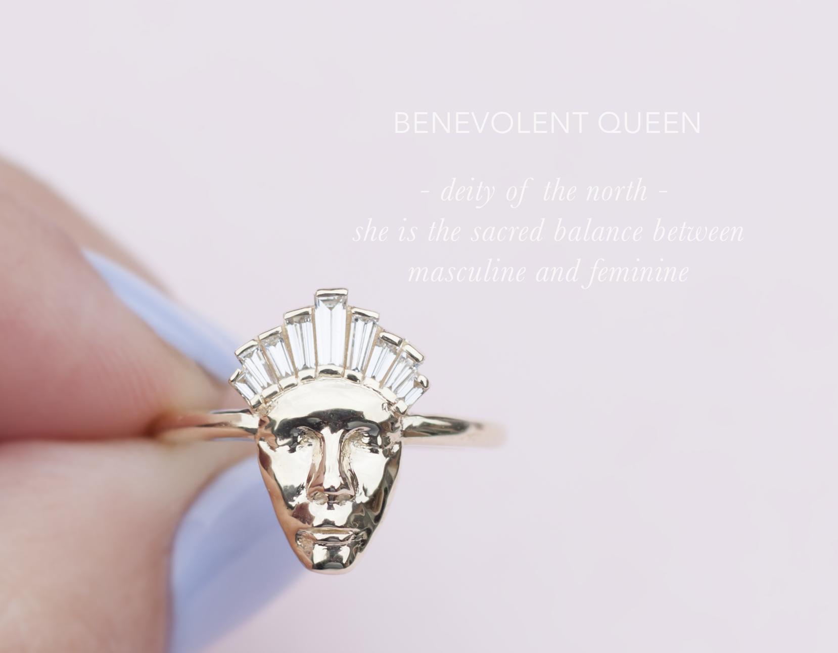 Face Baguette Diamond Ring - Anastassia Sel Jewelry