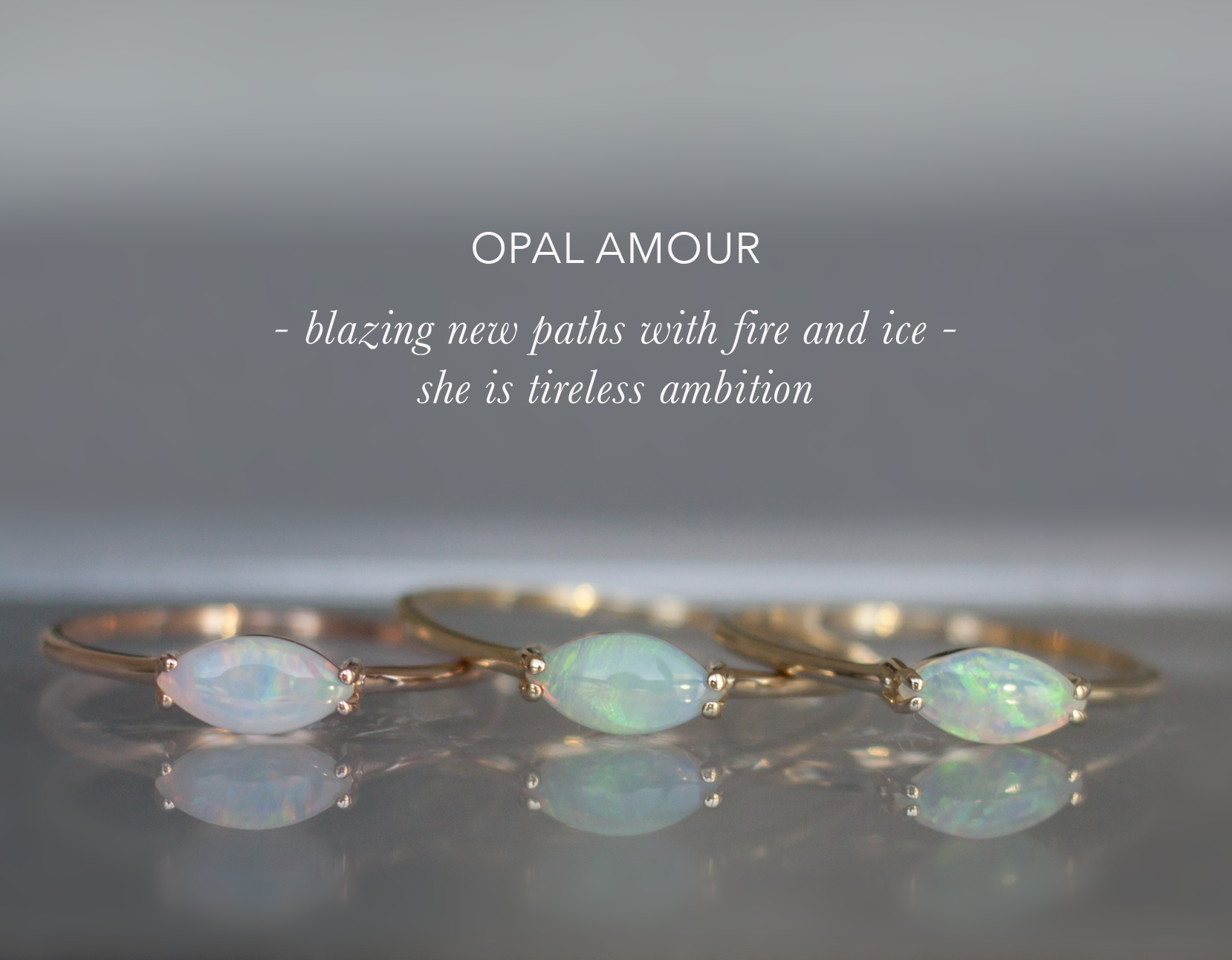Anastassia Sel Jewelry - Opal Gold Ring - Everyday Ring