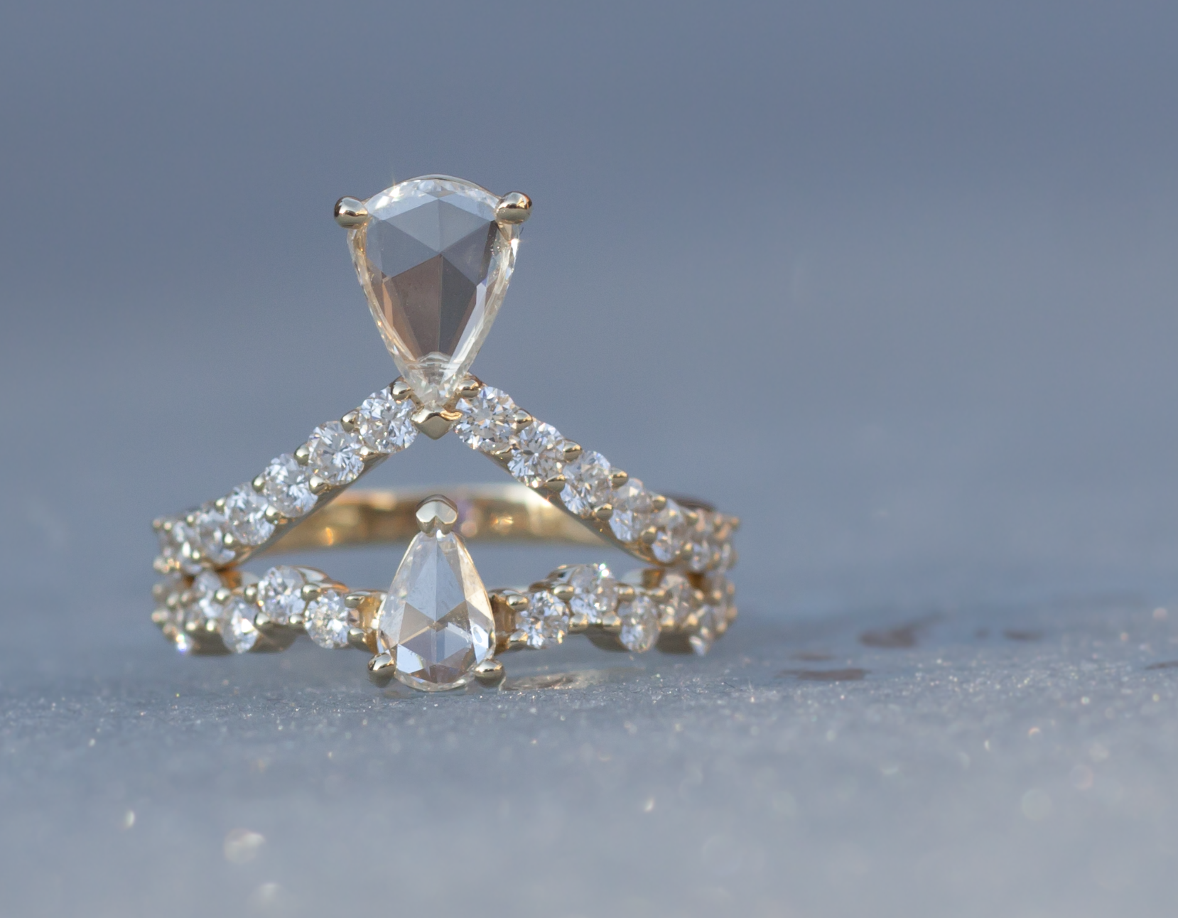 Anastassia Sel Jewelry - Rose Cut Diamond Ring