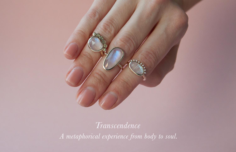 Anastassia Sel Jewelry - Moonstone Gold Ring