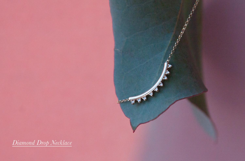 Anastassia Sel Jewelry - Dainty Gold Diamond Necklace