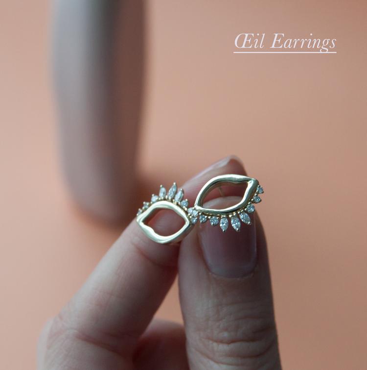 Anastassia Sel Jewelry - Diamond Earrings - Evil Eye Earrings