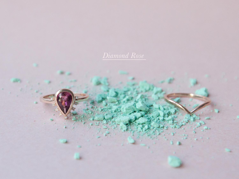 Anastassia Sel Jewelry - Unique Engagement Ring - Pink Tourmaline