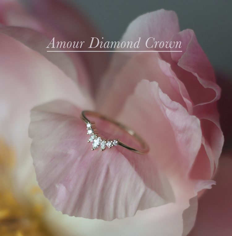 Anastassia Sel Jewelry Lookbook - Crown Wedding Band