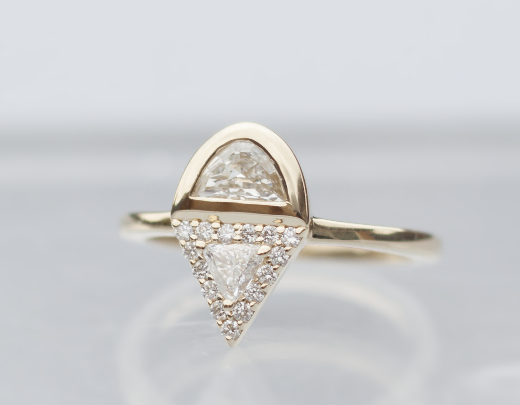 Art Deco Inspired Engagement Ring - Anastassia Sel Jewelry