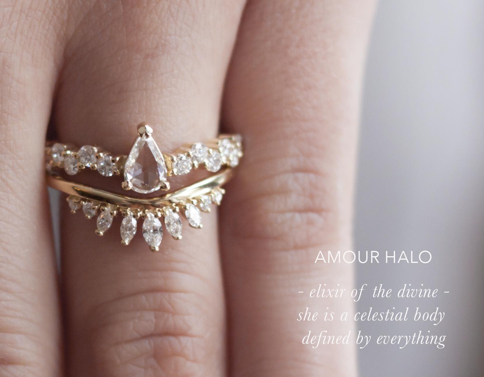 Diamond Crown Wedding Band - Contour Band - Anastassia Sel Jewelry