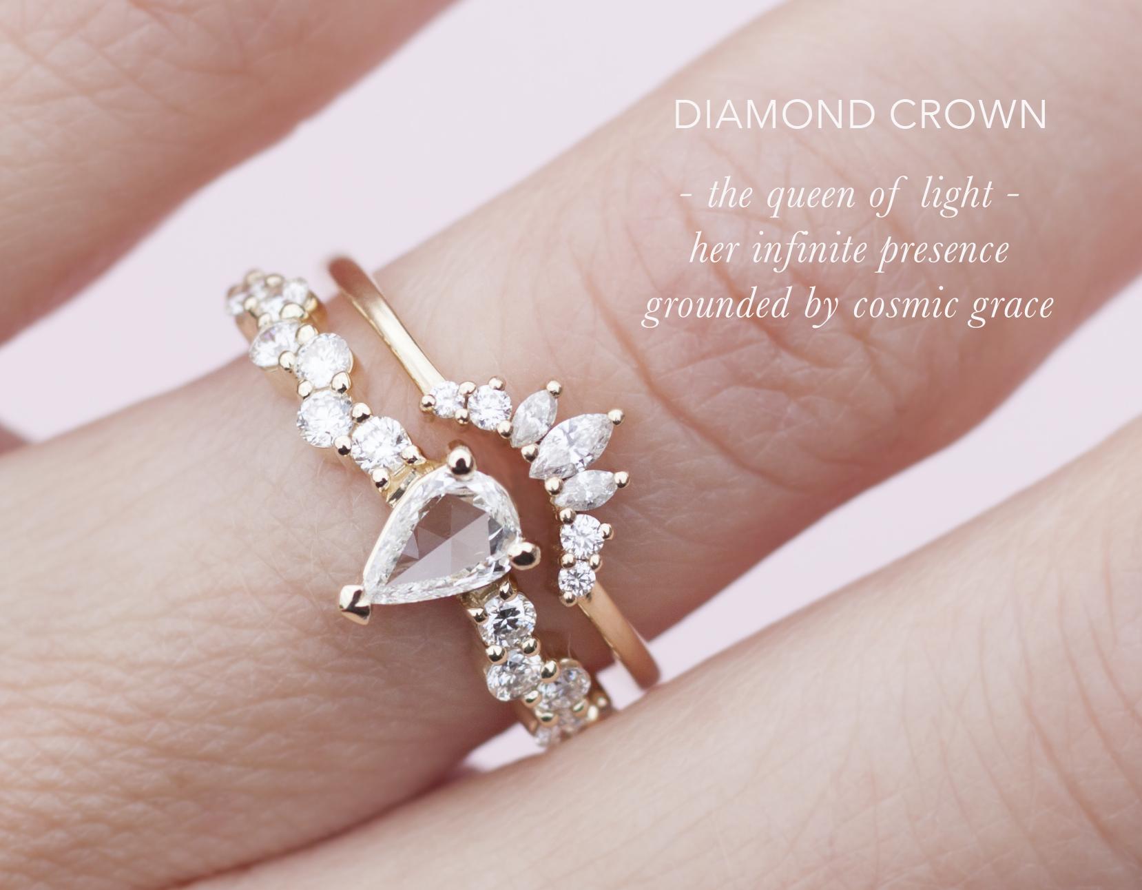 Diamond Crown Wedding Band - Anastassia Sel Jewelry
