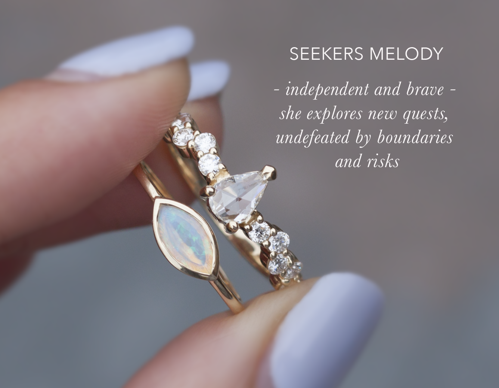 Opal Gold Everyday Ring - Anastassia Sel Jewelry