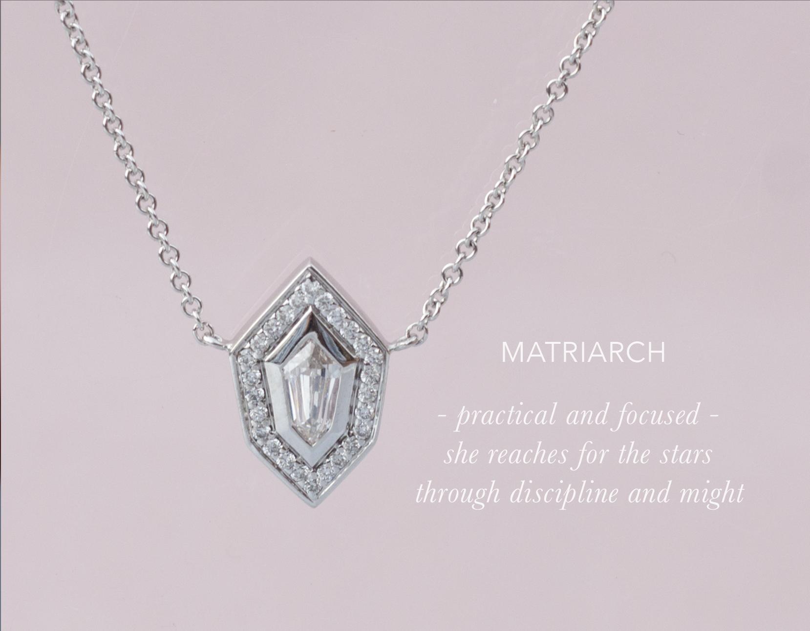 Shield Diamond Necklace - Anastassia Sel Jewelry