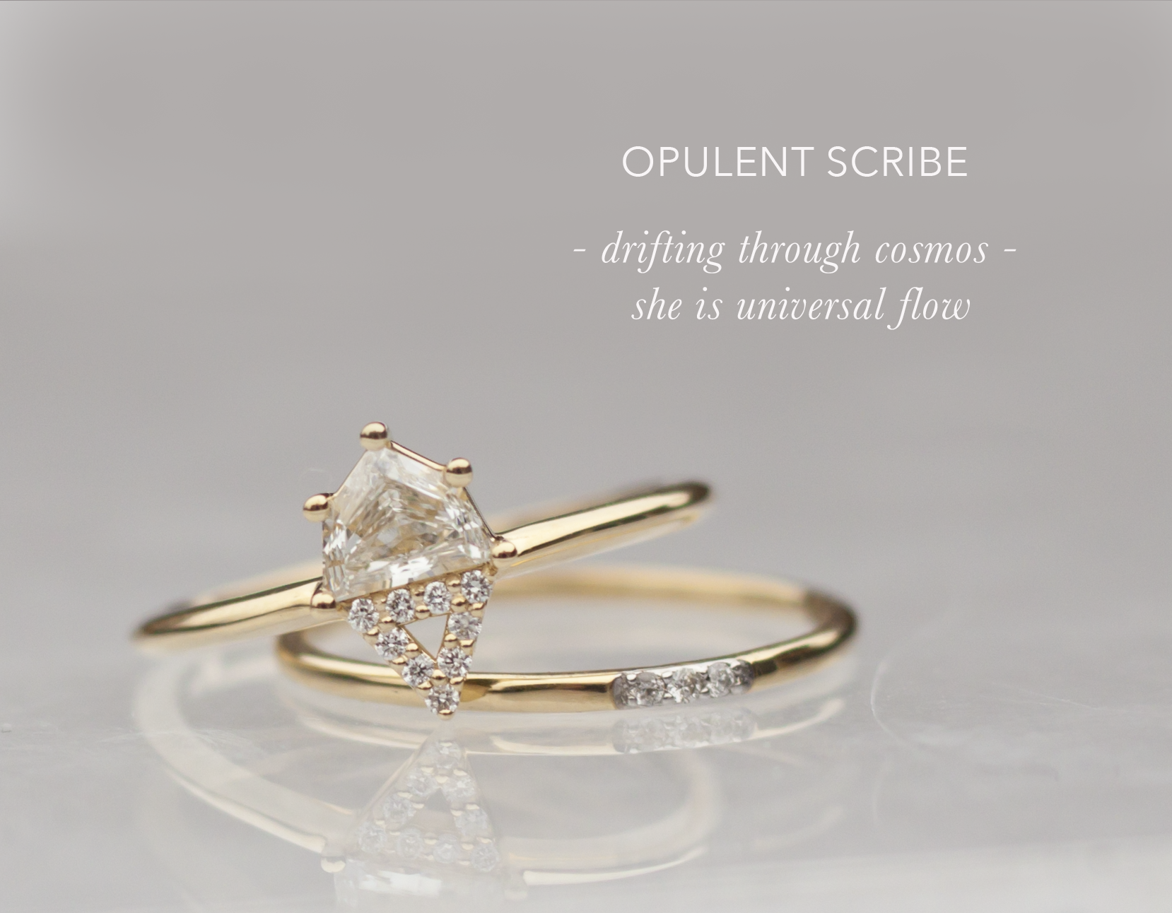 Unique Engagement Ring - Hexagon Engagement Ring - Anastassia Sel Jewelry
