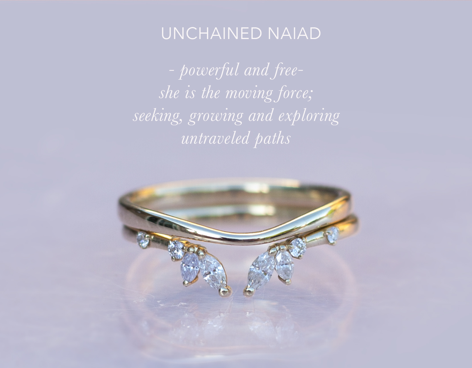Ethical wedding band  using ethical gold and diamonds.