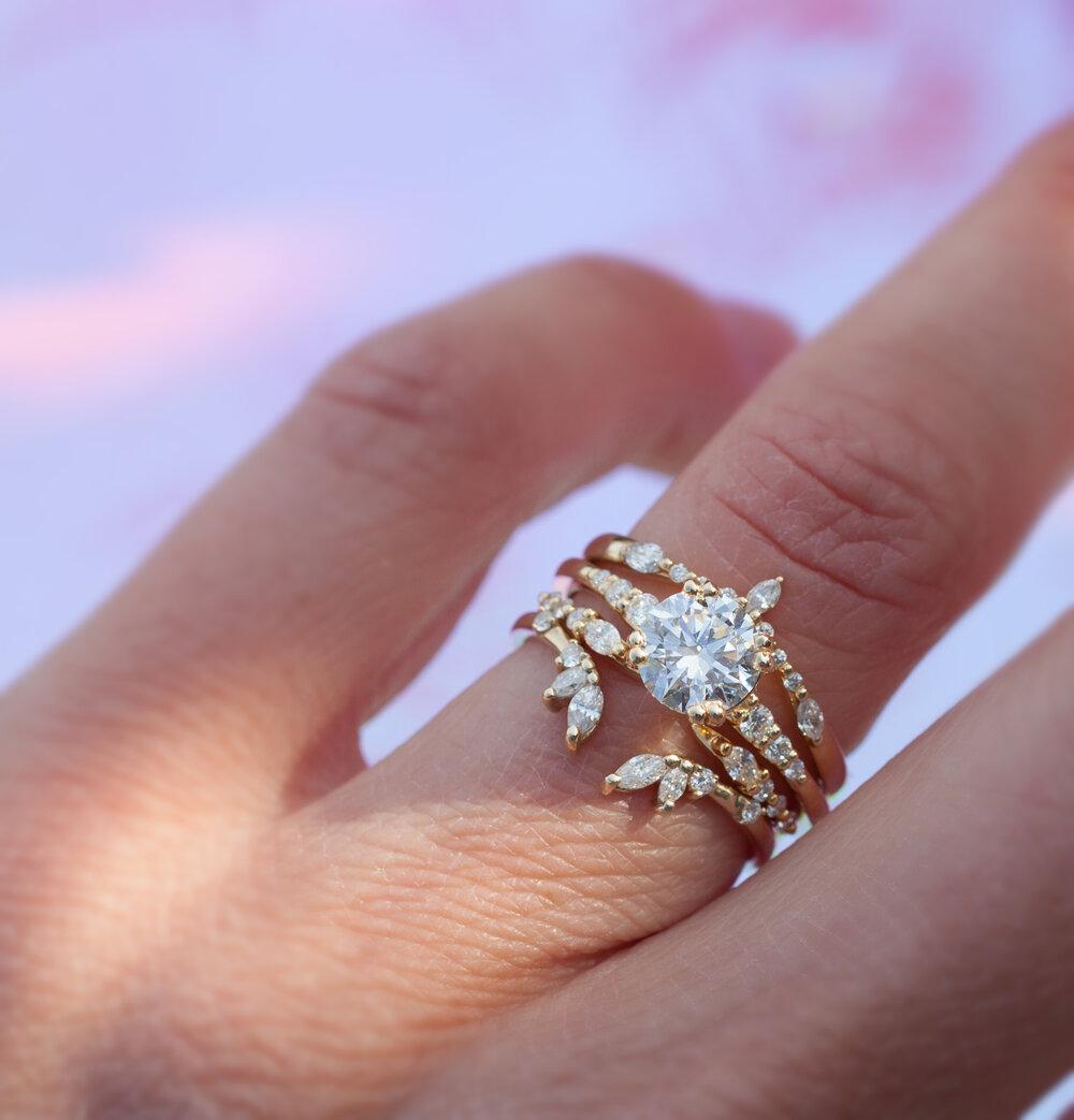 Diamond Open Band Gold Ring Anastassia Sel