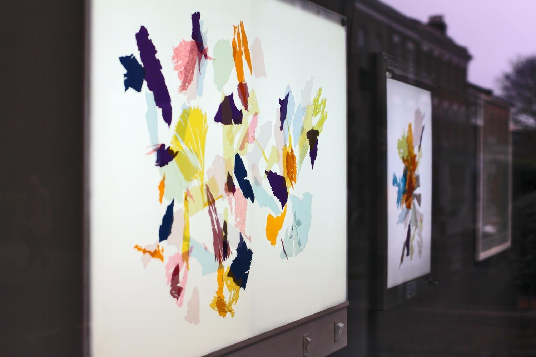 Francesca Bray's lightbox works