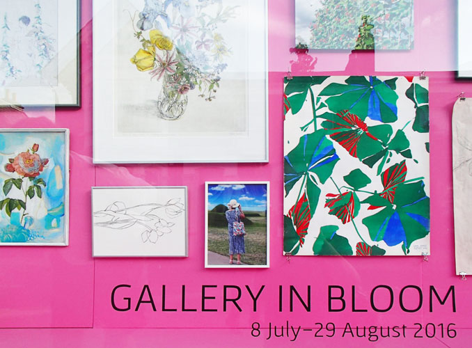 Royal Academy inspired hot pink wall for the mixed show in summer 2016
