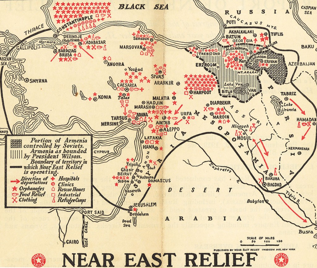 Map of Near East Relief activities in 1921