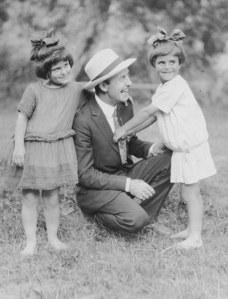 Associate General Secretary Barclay Acheson with girls Babek and Lea at the Seversky Girls' Camp c.1925