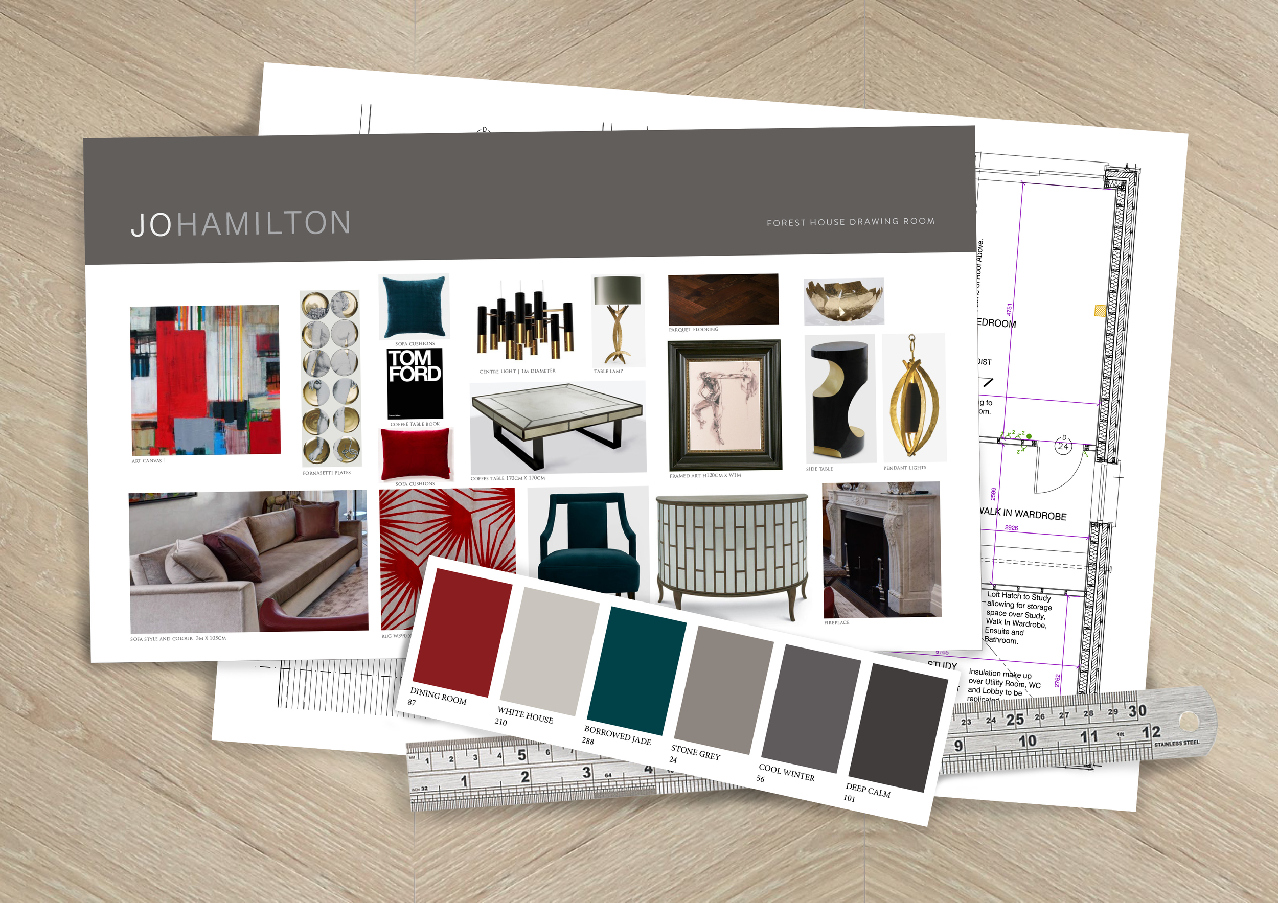 Interior design course by high-end London interior designer Jo Hamilton