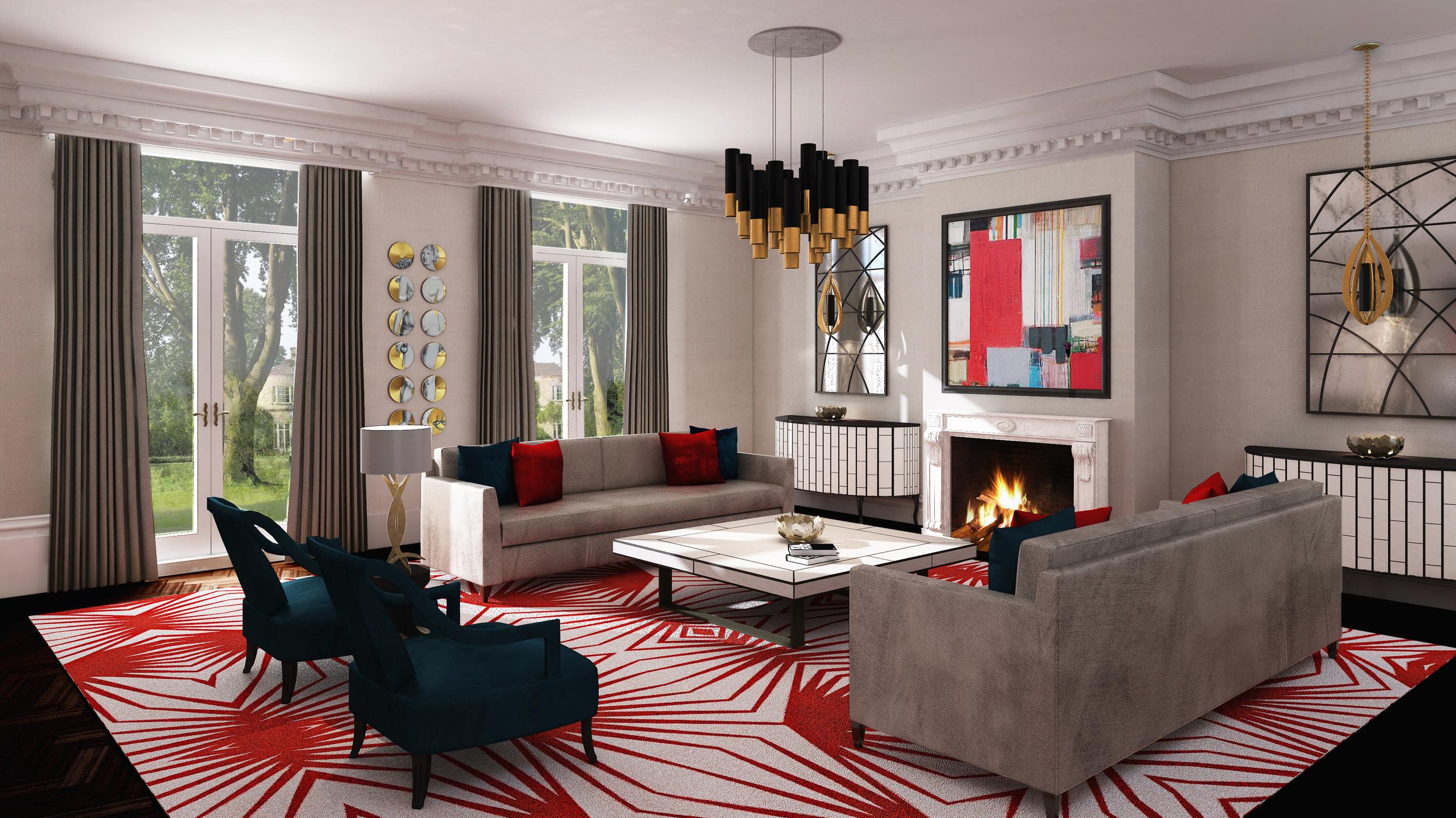 Luxury interior by high-end London interior designer Jo Hamilton