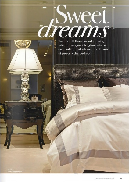 High-end London interior designer in International Property and Travel page two