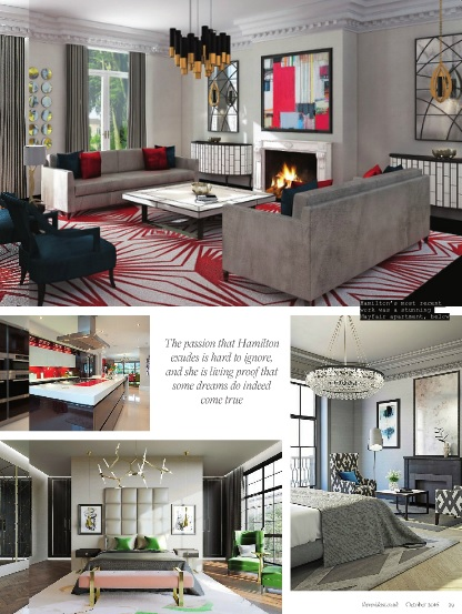 High-end London interior designer Jo Hamilton The Resident page five