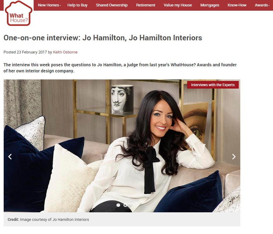 What House feature high-end London interior designer Jo Hamilton
