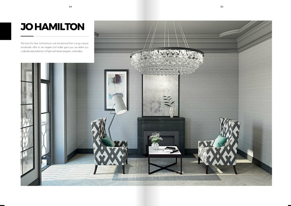 Luxury interior designer Jo Hamilton in AoD May 2017 - pages 64 and 65