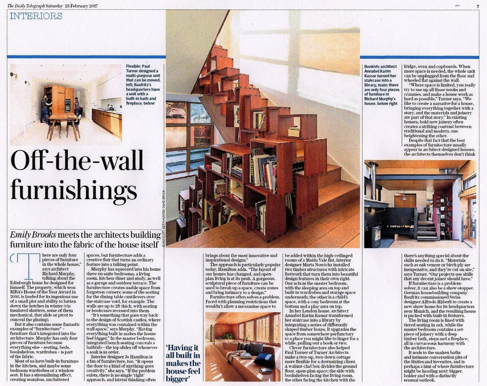 Luxury interior designer Jo Hamilton in Daily Telegraph February