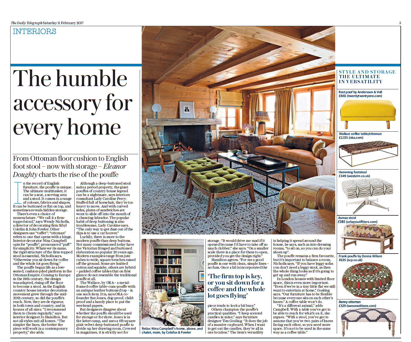 High end interior designer Jo Hamilton Daily Telegraph February 11 2017
