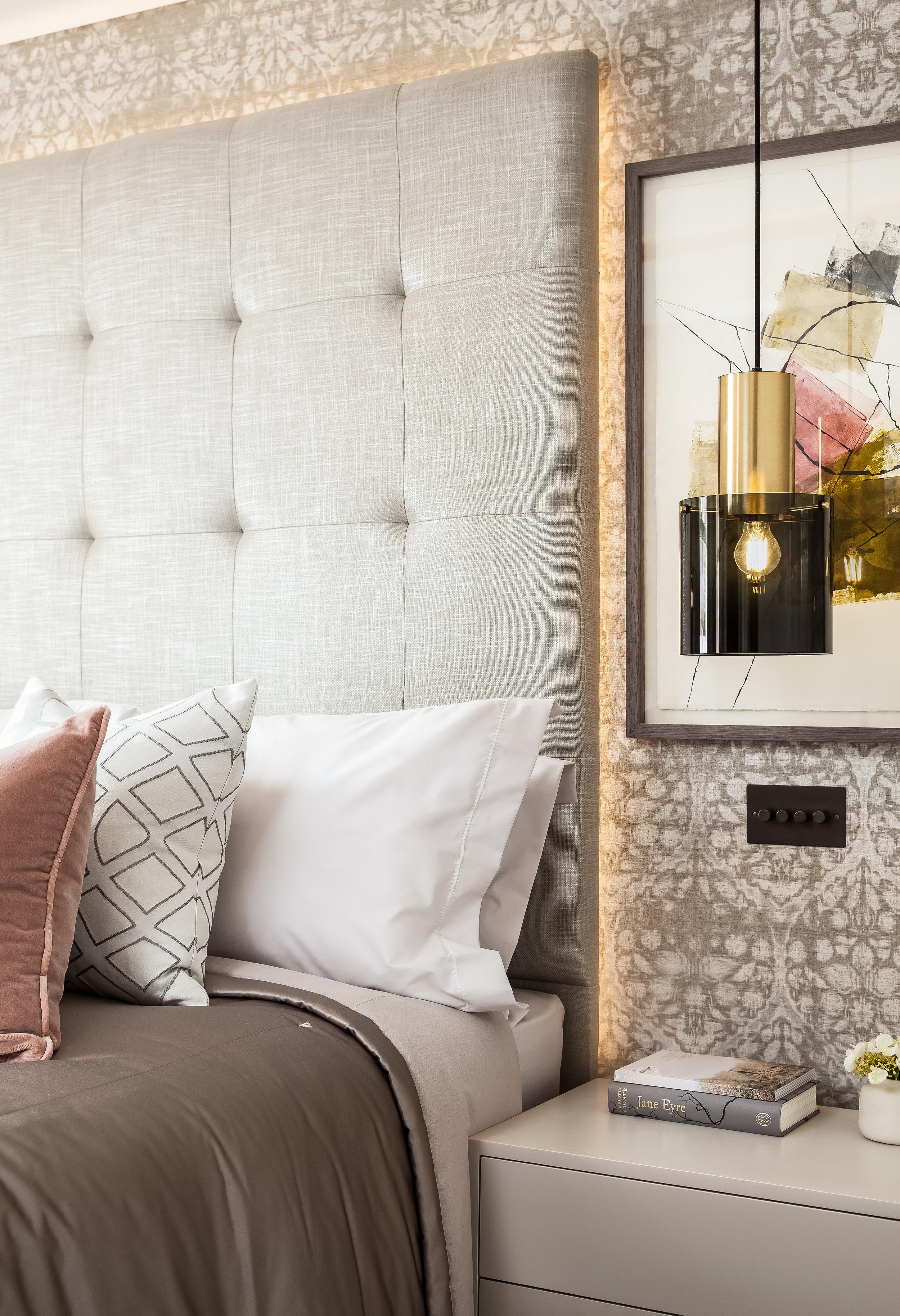 Jo Hamilton Interiors - Kensington bedroom bedside