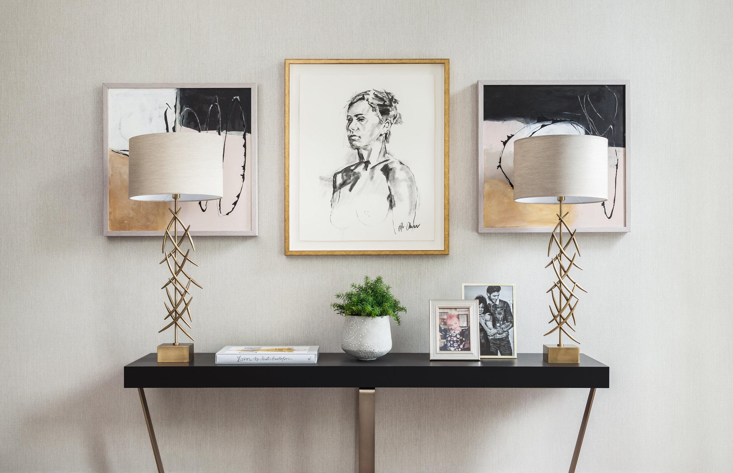 Jo Hamilton Interiors - Kensington console art