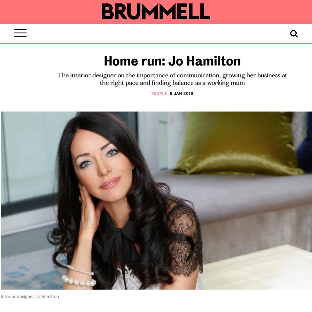 London interior designer Jo Hamilton in Brummell.jpg