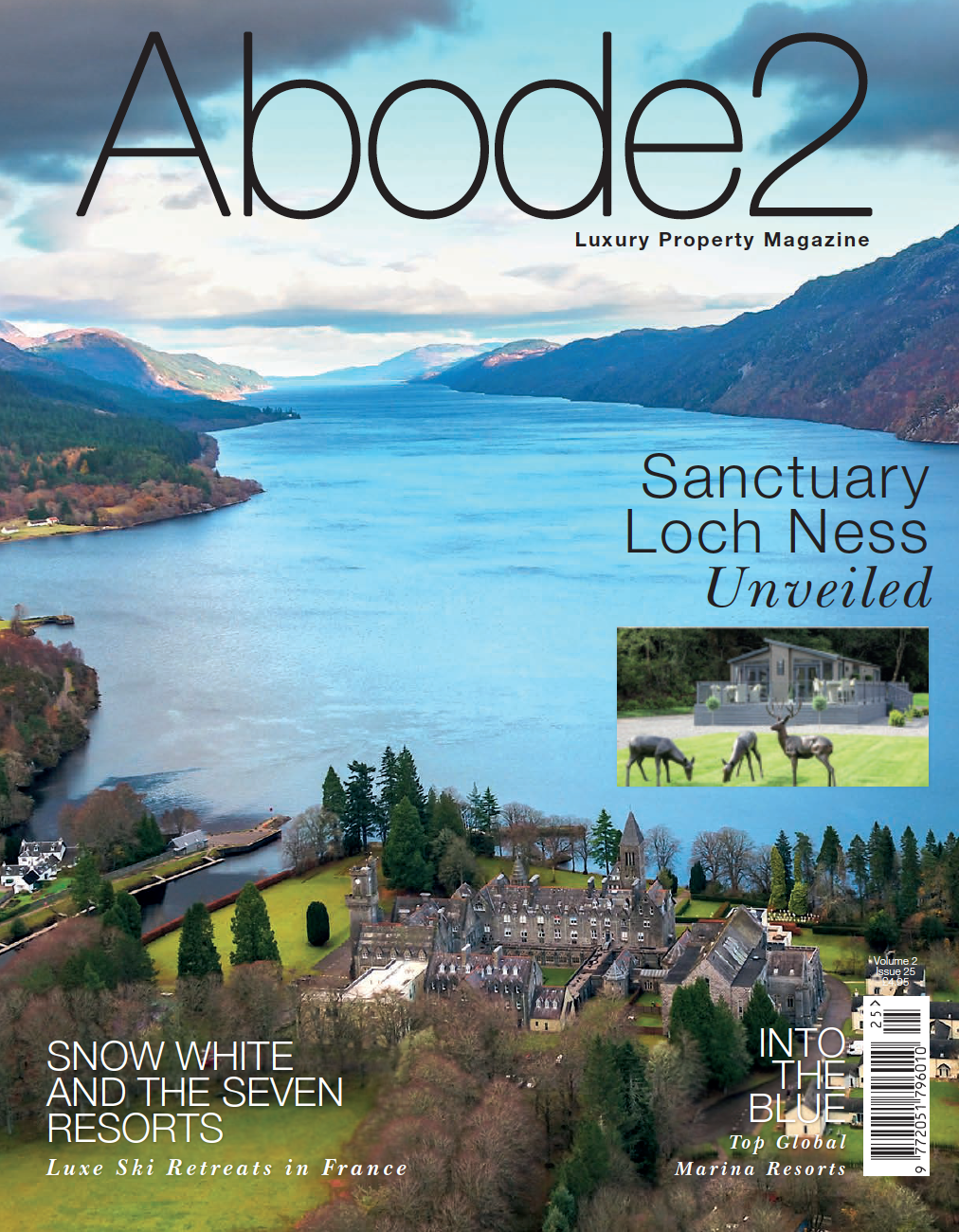 Abode2 magazine featuring high end interior designer Jo Hamilton (front)