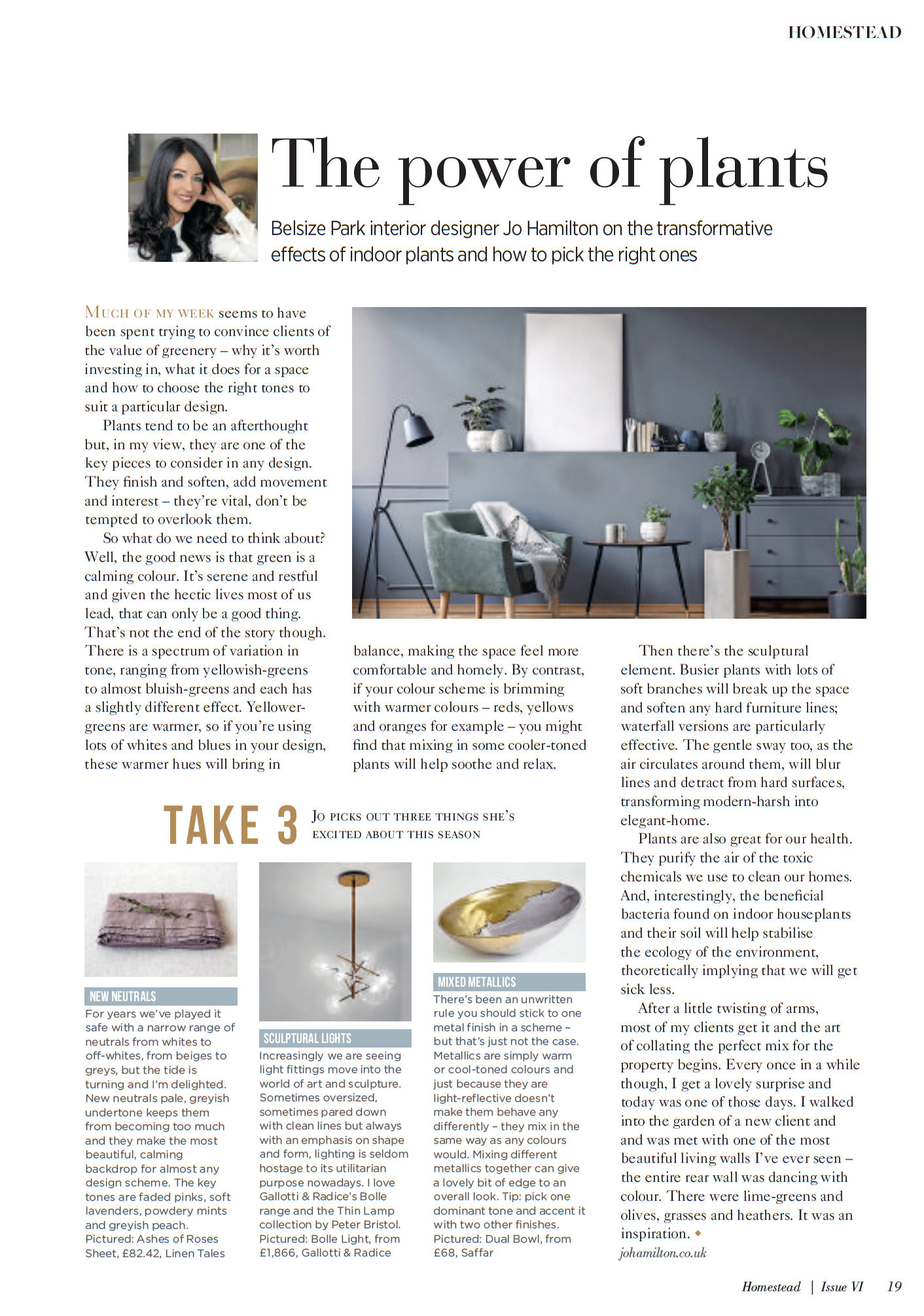 Interior designer Jo Hamilton Homestead column June 2018 P19.png