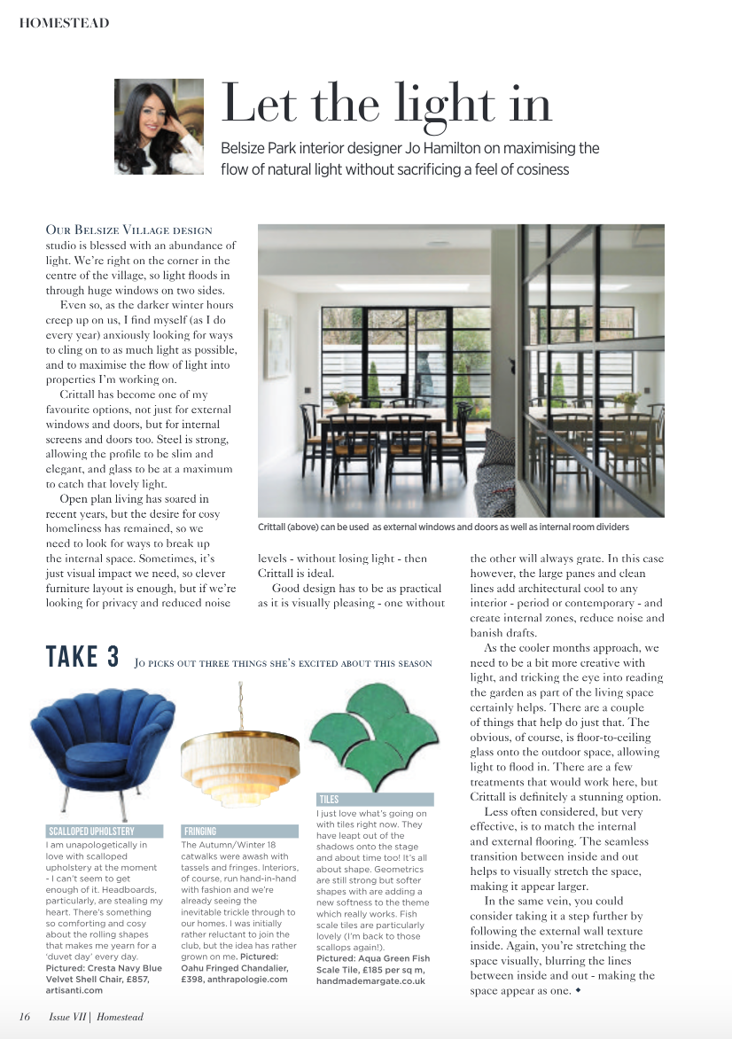 Homestead magazine featuring high end interior designer Jo Hamilton.png