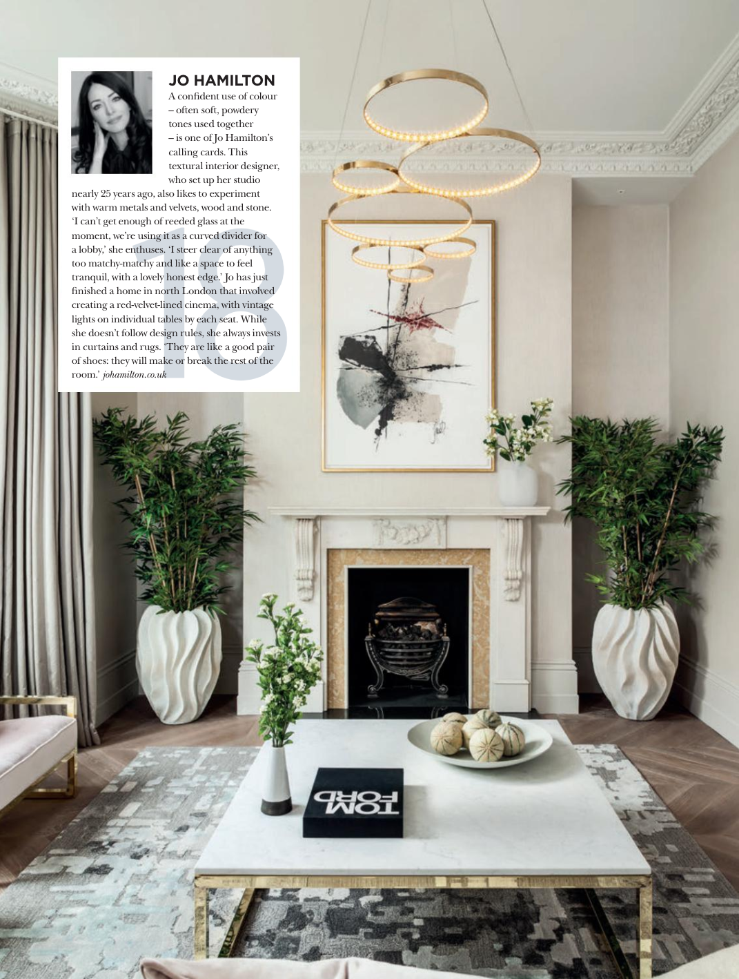 High end interior designer Jo Hamilton listed among the UK's finest b