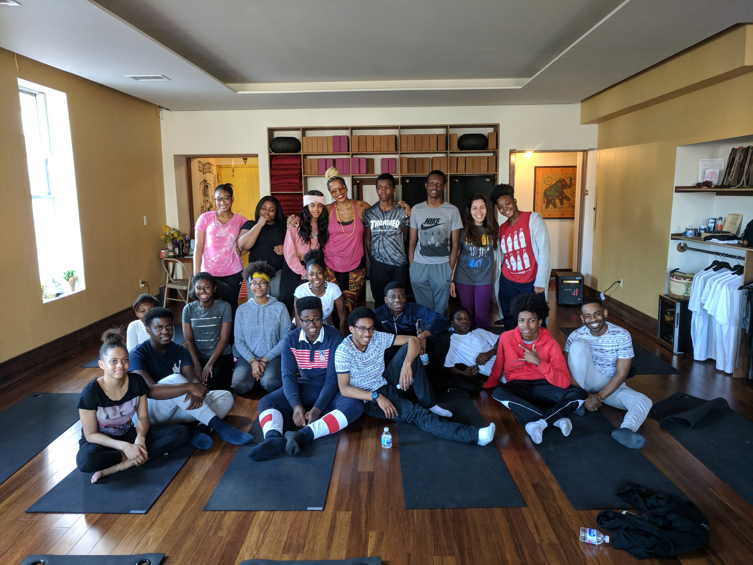We welcomed high school students and teachers to the studio in January for a special Wellness curiculum at Brooklyn Ascend