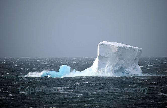 Iceberg in a Gale, Ross Sea, Antarctica                                         Copyright © Marlo Garnsworthy