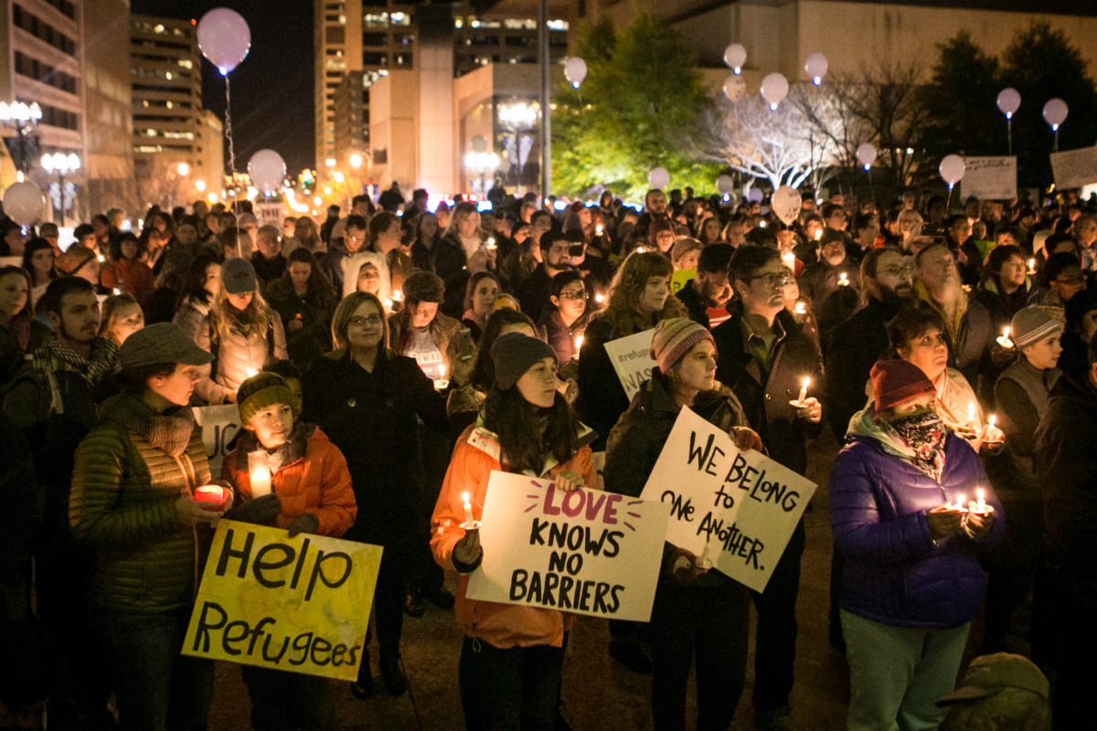 On November 23rd, hundreds of Tennesseans peacefully gathered at Legislative Plaza to stand with refugees. Amidst the anti-refugee rhetoric throughout the country, we lit candles and came together to show that Tennessee is a welcoming, inclusive state.
