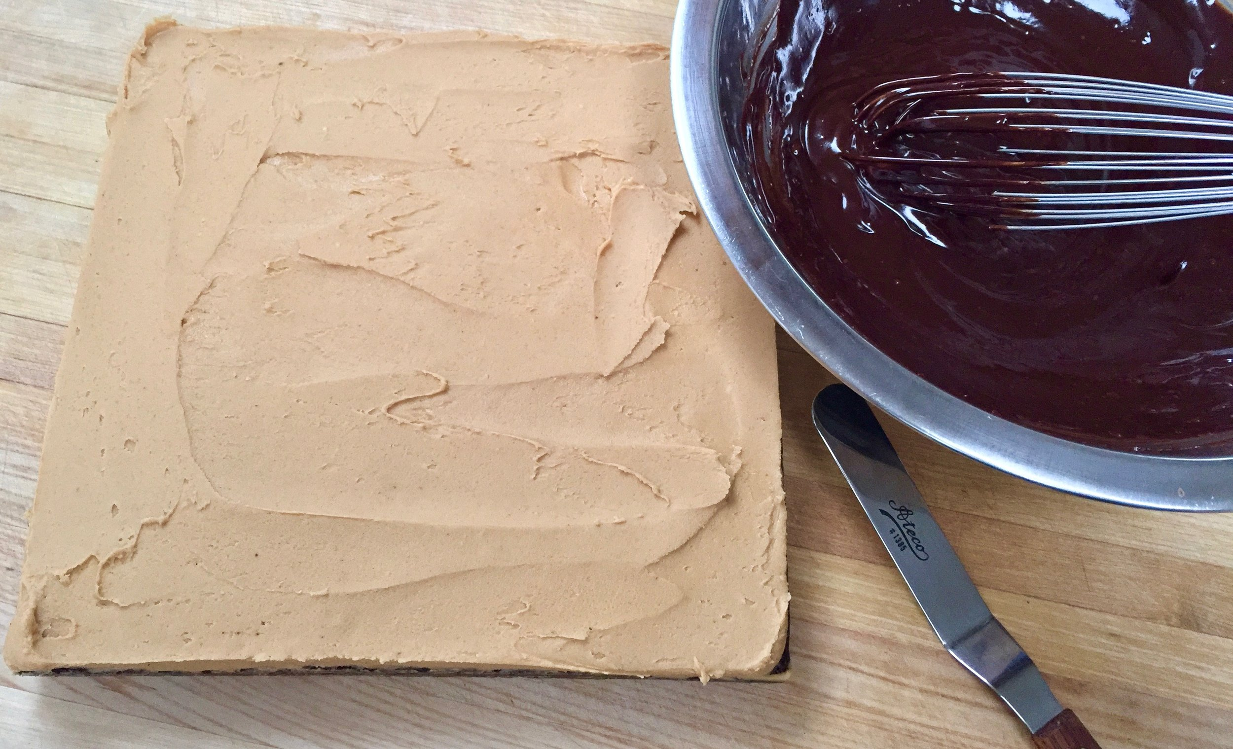 Peanut butter frosting, check.