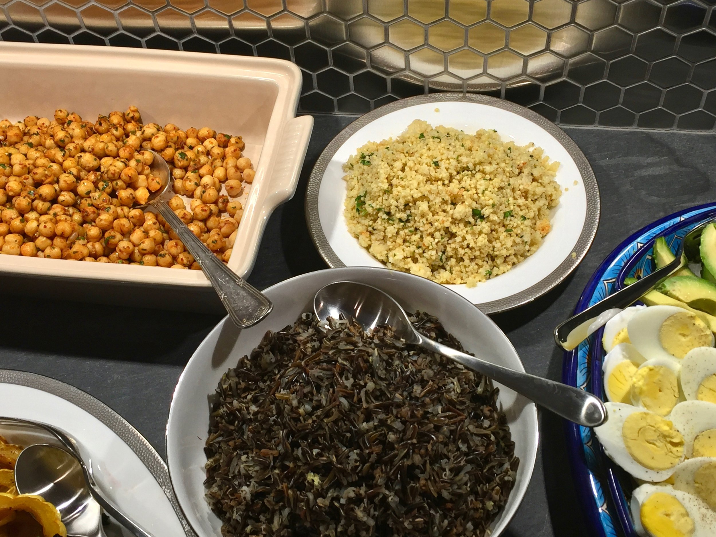 Both wild rice and millet add great flavor and texture to the buffet.