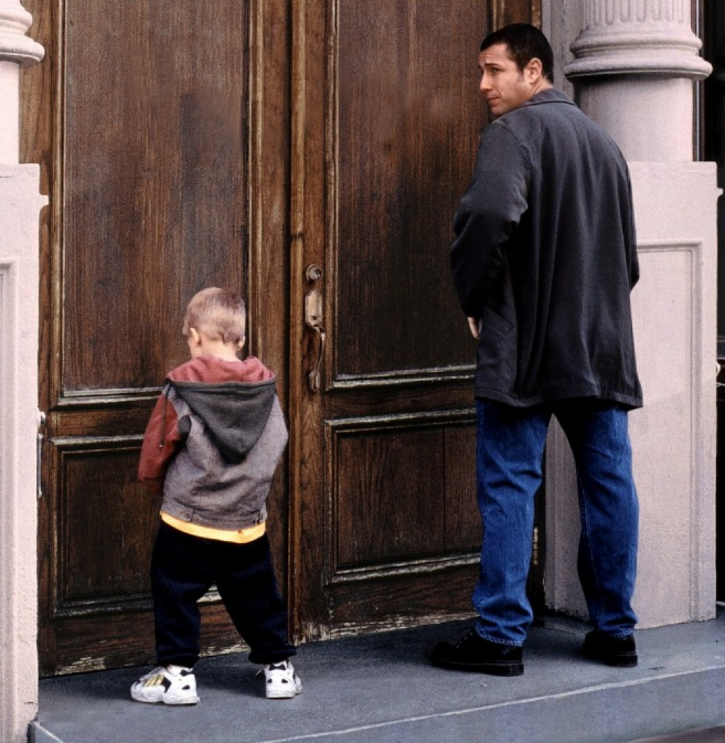 The journey through parenting styles feature as a story in many movies, showing neglectful or permissive parents developing a sense of responsibility and moving towards more appropriate parenting styles. Pictured above is Adam Sandler's  Big Daddy .