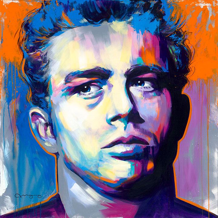"""James Dean48"""" x 48"""" acrylic on canvas25% OFF -"""