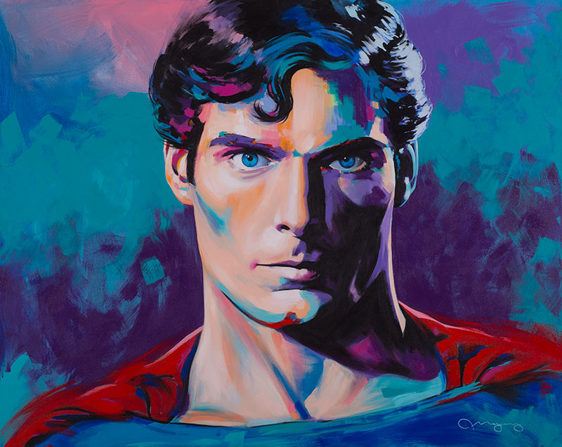 "Christopher Reeve60"" x 48"" acrylic on canvas50% OFF -"