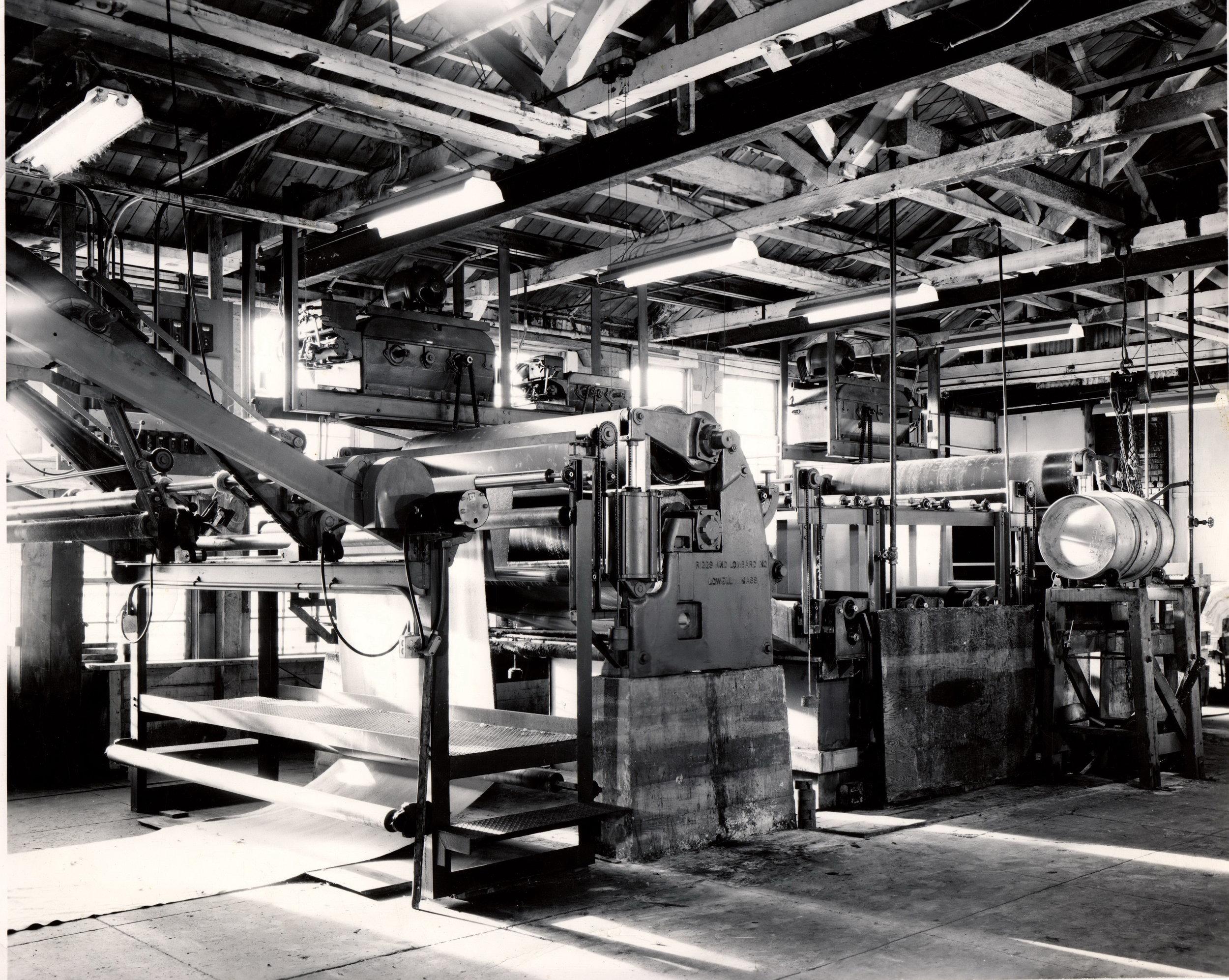 Portland Woolen Mills machinery in operation